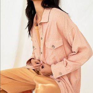 FREE PEOPLE Quite The Look Overshirt Duster XS LG